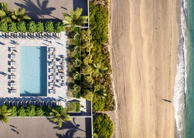 Photograph of the rooftop pool at 2000 Ocean condo.