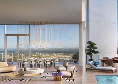 3D rendering sample of a penthouse unit design at Missoni Baia condo.